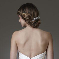 wedding hair | wedding hairstyles up | loose low bun wedding hair | Amy Kushel Look 8 Fall 2009 | WeddingHair.com