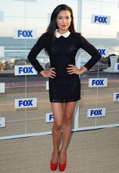 Naya Rivera Wears Black Mini Dress at 2011 Fox All Star Party in Malibu #DKNY #cocktail #dress
