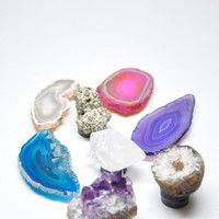 Gemstone Magnet Set - Amethyst, Agate & more | LEIF