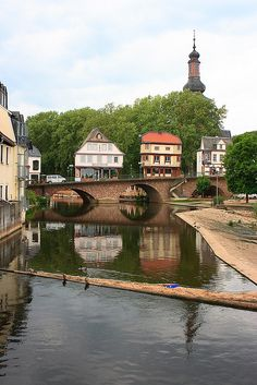 bridge houses in Bad Kreuznach, Rhineland-Palatinate, Germany