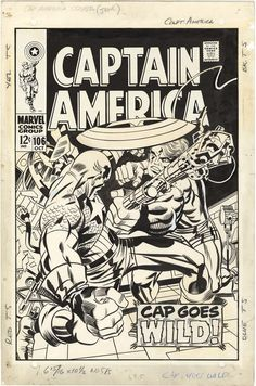 Cover to CAPTAIN AMERICA #106 by Jack Kirby and Frank Giacoia