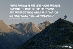 Christian Schiester describes why he loves trail running. #betteryourbest