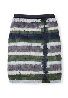 Tory Burch Silk Gazar Skirt With Feathers | The Paris Capsule Collection