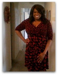 BerryMorins Bits and Tips: #GwynnieBee: London Times Faux Wrap Dress