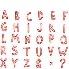 Informal Letters Rubber Stamp Set