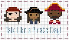 FREE Cross stitch pattern by Stitch People for Talk Like a Pirate Day!