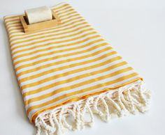 Bathstyle Turkish BATH Towel Peshtemal  Yellow No2 by bathstyle, $24.50
