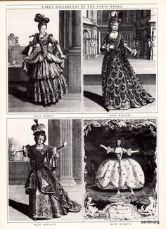 Early Ballerinas of the Paris Opera Ballet 17th Century