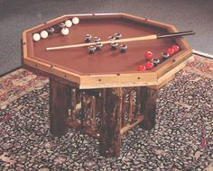 How About A Game Of Bumper Pool? From The Yellowstone Collection   A 3 In 1  Game Table Has A Game Top For Poker That Reverses For Dining Or Board Games.