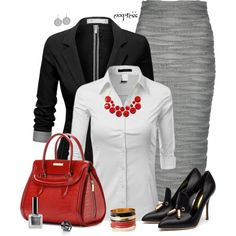 """""""Wave Pencil Skirt"""" by exxpress on Polyvore"""