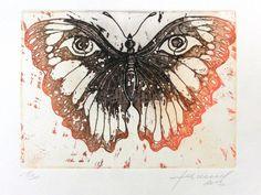 Luis Seiwald - Radierung - Schmetterling 2013 - Auflage: 30