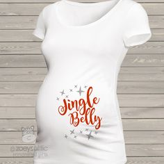 personalized maternity shirt, jingle belly Christmas, mom to be t-shirt