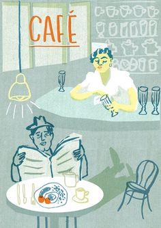 Cafes - Louise Lockhart Illustration & Design