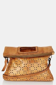 Topshop perforated leather crossbody bag.