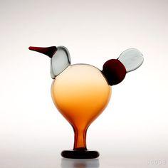 Oiva Toikka, Oulevi, Scope, Japan, limited edition of 300 Glass Birds, Lakes, Finland, Scandinavian, Glass Art, Japan, Beautiful, Collection, Design