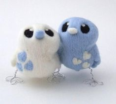 Bird wedding cake topper, Needle felted pair of birds in pretty pale blue and white with little hearts perfect for a winter wedding. If you are going for a non traditional wedding you can't go wrong with this lovely pair of opposites, they do say oppo. White Roses Wedding, Wedding Cake Roses, Wedding Cake Toppers, Wedding Cakes, Blue Wedding, Bird Cake Toppers, Bird Cakes, Needle Felted, Felting