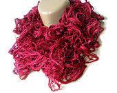 WAS 25 NOW 19  maroon scarf,women scarf,2012 new trends,fashion scarf,burgundy,soft,stylish,for her,ruffle scarf