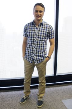 Alex Dull (Designer) says the watch, shoes and belt are what defines style for a guy in the office. Check out more #OfficeStyle by the Womensforum ladies and gents here: http://www.womensforum.com/womensforum-team-office-style-slideshow.html#
