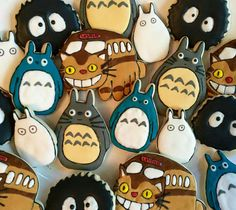 Cookie Lab Philly: My Neighbor Totoro cookies.
