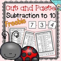 Cut and Paste Subtraction to 10 - Subtraction to Ten Works