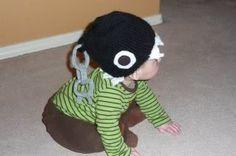 Chain chomp hat from Super Mario Bros. #knitting #hat #chainchomp #supermario
