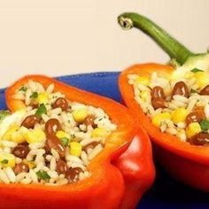GRILLIN' BEANS STUFFED PEPPERS Recipe | Just A Pinch Recipes