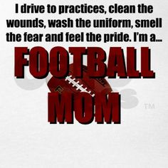 i love love being a football mom