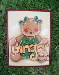 Hand Painted Wooden  Gingerbread Plaque by stephskeepsakes on Etsy,