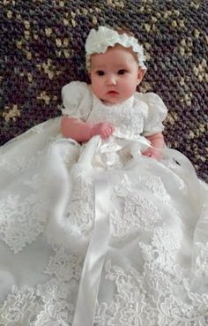 Christening dress made to order from your wedding dress One week turnaround time Christening dress made to order from your wedding dress One week turnaround time Mscook Baby baptism dress Your wedding nbsp hellip Baby Christening Gowns, Baptism Dress, Baby Baptism, Mom Dress, Dress Out, Baby Dress, Babyshower, Types Of Sleeves, Dress Making