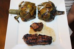 love is in the details: Bandera's Grilled Artichokes with Remoulade