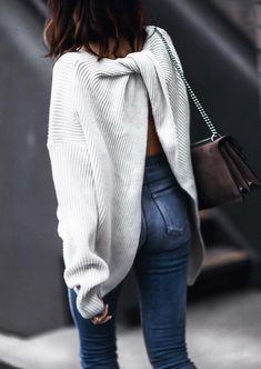 slouchy sweater with a twist