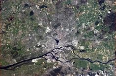 """Chris Hadfield 1 May """"Hamburg, Germany - with positive wishes to Stefanie Bierholz on her mid-Spring birthday."""""""