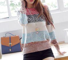 Princess sweet striped sweater #TH091205BH