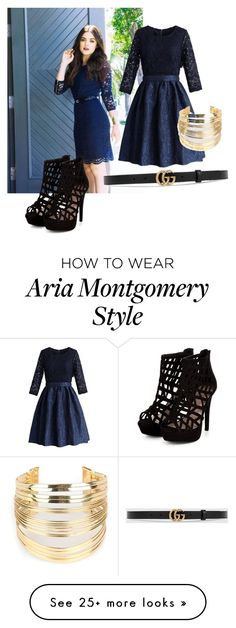 """""""Aria"""" by hannah205 on Polyvore featuring Chicwish, Gucci and WithChic"""