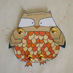 Make your own Owl diy paper doll by FandGForest on Etsy