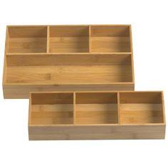 Bamboo Drawer Organizer Trays