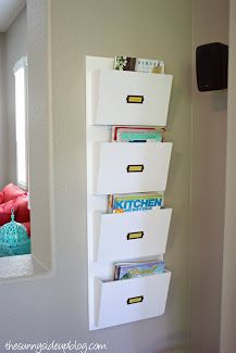 For the school notes etc one for each family member in the pantry