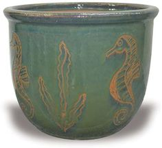 MP881-885 Angie Pots With Seahorse Carving