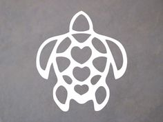 Love this decal! Hawaiian Sea Turtle with hearts Window Sticker Decal ONLY $2