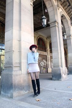 BARCELONA  #outfit #otkb #wool #skirt #turtle #neck #winter
