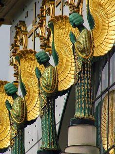 Golden Wings Angels, Steinhof Church, Vienna