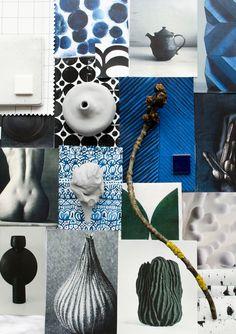 swoon blue ceramics for Lotta Agaton