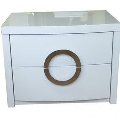 Modern Style White Color Bedside Table With Two Drawer Design Furniture For Bedroom a part of  under Furniture