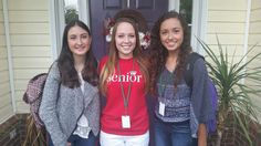 Mariana from Mexico and her host sisters are ready for their first day at Dutch Fork HS in Irmo, SC!