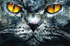 Cats Eyes 4 Painting by John D Benson