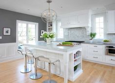 Western Suburbs Kitchen Remodel Dazzles in White and Gray