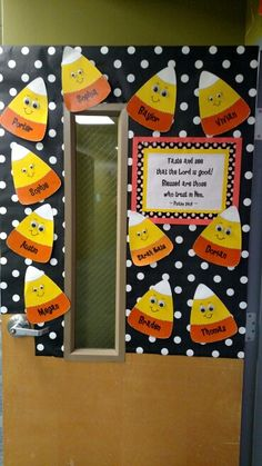 candy corn classroom door for October 2015!