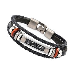 [Valentine's Day Gifts] Love Bracelet - Coolla Men Bracelet Women Bracelet Vintage Leather Wrist Band Bracelet for Boys Sl3375 (Black) COOLLA http://www.amazon.com/dp/B01AJHPCTW/ref=cm_sw_r_pi_dp_Yg8Lwb025QWZ1