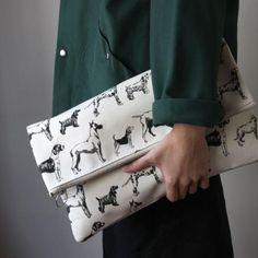 TEMBEA : TEMBEA clutch bag/dogs