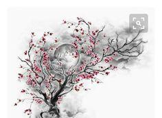 New Tree Tattoo Small Arm Cherry Blossoms 28 Ideas Life Tattoos, Body Art Tattoos, Small Tattoos, Sleeve Tattoos, Tatoos, Dead Tree Tattoo, Blossom Tree Tattoo, Worlds Best Tattoos, Tree Tattoo Designs
